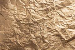 Skrynkligt papper som bakgrund Arkivbilder