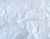 skrynkligt tomt ark av vitbok i en bur royaltyfri bild