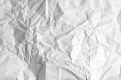 Skrynkligt vitt papper Fotografering för Bildbyråer