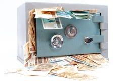 Skrytka z pieniądze fotografia stock