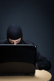Skryty komputerowy hacker Obrazy Stock