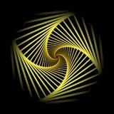 Skryty koncentryczny wirować, spirally obciosuje abstrakcjonistycznego geometrycznego tło schodka okulistycznego złudzenia wzór ilustracji