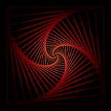 Skryty koncentryczny wirować, spirally obciosuje abstrakcjonistycznego geometrycznego tło schodka okulistycznego złudzenia wzór ilustracja wektor