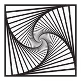 Skryty koncentryczny wirować, spirally obciosuje abstrakcjonistycznego geometrycznego tło schodka okulistycznego złudzenia wzór royalty ilustracja