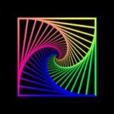 Skryty koncentryczny wirowa?, spirally obciosuje abstrakcjonistycznego geometrycznego t?o schodk?w okulistycznego z?udzenia wz?r royalty ilustracja