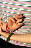 skrzyżowane palce szczęścia Obrazy Royalty Free