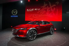 Skrzyżowania SUV pojęcie Mazda Koeru Obraz Stock