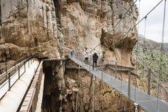 Skrzyżowanie Caminito De Rey, Hiszpania - zdjęcie royalty free