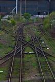 skrzyżowanie linia kolejowa Zdjęcia Royalty Free