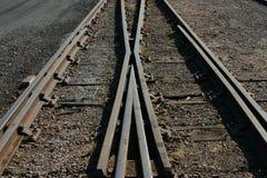 skrzyżowanie kolei Zdjęcia Royalty Free