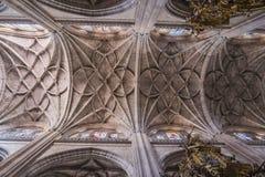 Skrzyżowanie naves Katedralny Nuestra Senora de los angeles Asuncion Obraz Stock