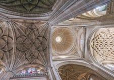 Skrzyżowanie naves Katedralny Nuestra Senora de los angeles Asuncion Fotografia Stock