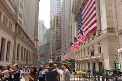 Skrzyżowanie Wall Street Fotografia Royalty Free