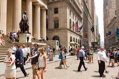 Skrzyżowanie Wall Street Obraz Royalty Free
