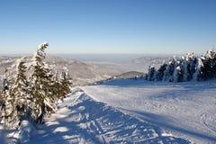 skrzyczne лыжи piste стоковое фото