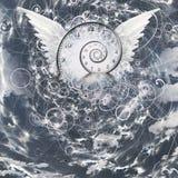 Skrzydła i czas spirala ilustracji