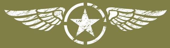 skrzydła wojskowe ilustracja wektor