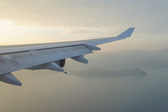 Skrzydło samolot Obrazy Royalty Free