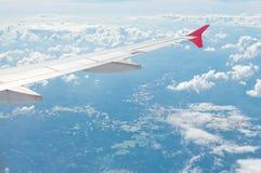 Skrzydło samolot Fotografia Stock