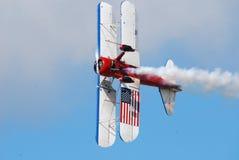 skrzydło wyczynu kaskaderskiego samolot Zdjęcie Royalty Free