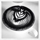 Skrzydłowy tulipanowy latteart Fotografia Stock