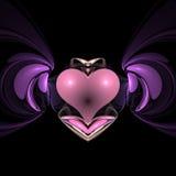 skrzydlata serce Obrazy Royalty Free