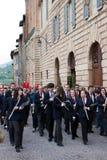 Skrzyknie sztuka w dziejowym centrum Gubbio Fotografia Royalty Free