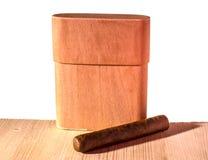 Skrzynka dla cygar na białym tle Obrazy Royalty Free