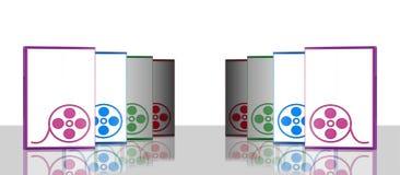 skrzynka dvd cztery środków lustro Zdjęcie Stock