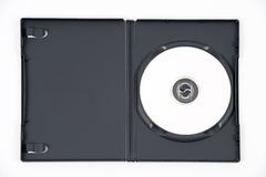 skrzynka dvd otwarty biel fotografia stock
