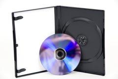 skrzynka dvd otwarty purpurowy biel obrazy stock