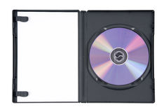 skrzynka dvd purpury zdjęcie stock