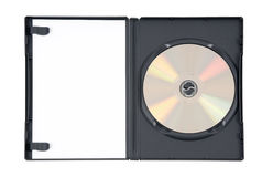 skrzynka dvd złoto fotografia stock