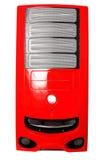 skrzynka komputeru odosobniony czerwony biel Obraz Royalty Free
