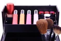 skrzynka makeup obrazy stock
