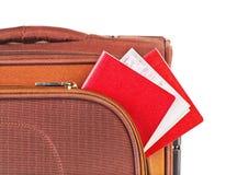 skrzynka paszporta bileta podróż Zdjęcie Royalty Free