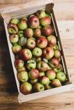 Skrzynka pełno jabłka zdjęcie royalty free