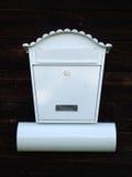 skrzynka pocztowa biel Fotografia Royalty Free