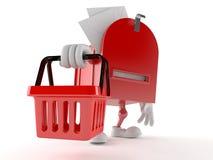 Skrzynka pocztowa charakteru mienia zakupy kosz royalty ilustracja