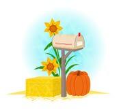 Skrzynka pocztowa I Haystack ilustracja wektor