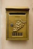 Skrzynka pocztowa na ścianie Zdjęcia Royalty Free
