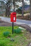 Skrzynka pocztowa w Szkocja obraz royalty free