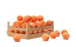 Skrzynka pomarańcze Zdjęcia Royalty Free