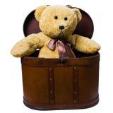 skrzynka siedzący zabawek rocznik Obraz Stock