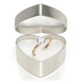 Skrzynka z pierścionkiem Zdjęcia Royalty Free