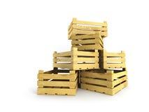 skrzynki drewniany pusty Obraz Stock