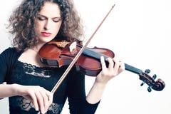 Skrzypaczka bawić się skrzypce Fotografia Stock