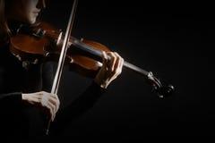 Skrzypcowego gracza muzyka klasyczna skrzypaczka Zdjęcia Stock