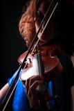 Skrzypcowy bawić się skrzypaczka muzyk Zdjęcia Royalty Free