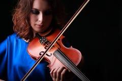 Skrzypcowy bawić się skrzypaczka muzyk Zdjęcie Stock